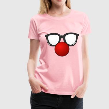 Clown Nose with Glasses - Women's Premium T-Shirt