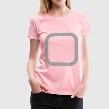 Checkbox Unchecked Gray - Women's Premium T-Shirt