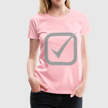 Checkbox Checked Gray - Women's Premium T-Shirt