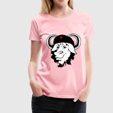 gnu cap hat cow - Women's Premium T-Shirt