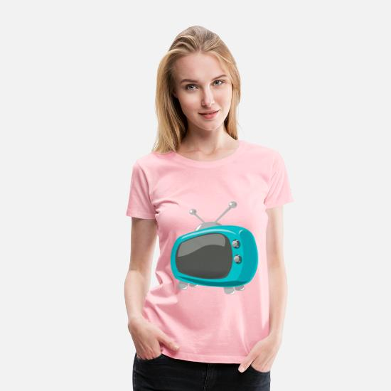 Tv T-Shirts - television comic style - Women's Premium T-Shirt pink