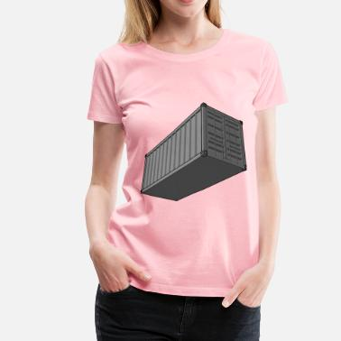 Container Ship Shipping Container - Women's Premium T-Shirt