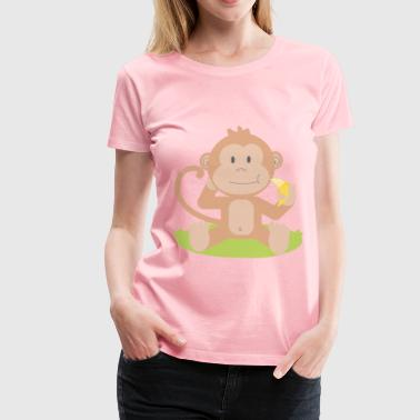 Cartoon monkey - Women's Premium T-Shirt