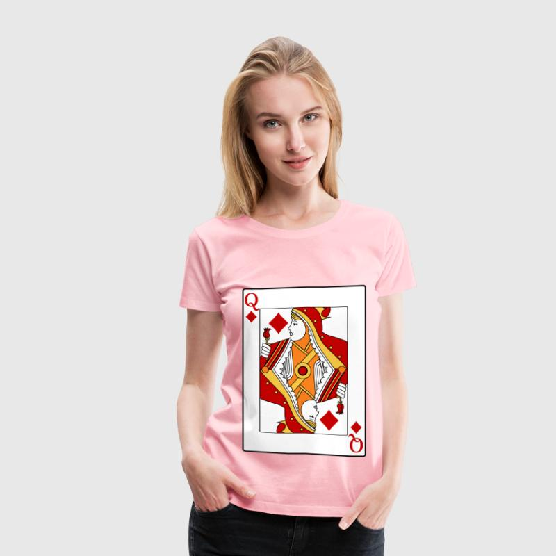 Queen of Diamonds - Women's Premium T-Shirt