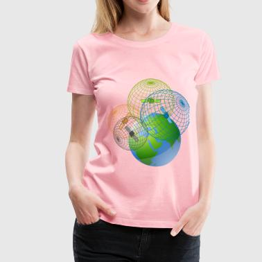 Gps-satellite GPS satellites trilateration - Women's Premium T-Shirt