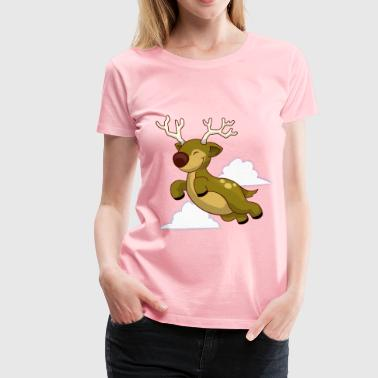 Flying Reindeer Flying Reindeer - Women's Premium T-Shirt