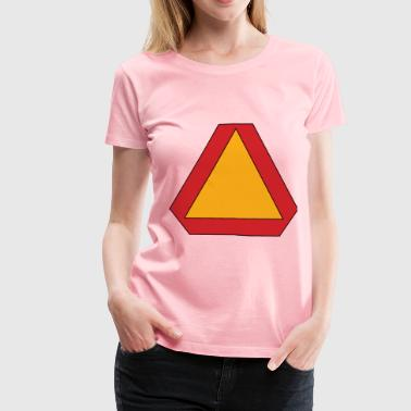 Slow moving vehicle sign - Women's Premium T-Shirt