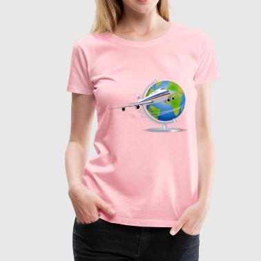 Travel Globe - Women's Premium T-Shirt