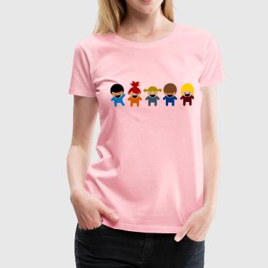 Cartoon Kids - Women's Premium T-Shirt