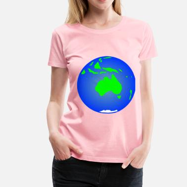 Earth (Other View) - Women's Premium T-Shirt