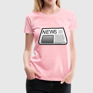 Newspaper - Women's Premium T-Shirt