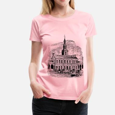Hall Independence Hall - Women's Premium T-Shirt