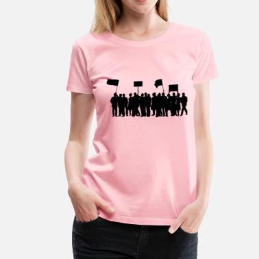 Protest Signs protest march - Women's Premium T-Shirt