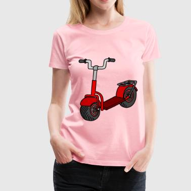 Kick scooter coloured - Women's Premium T-Shirt