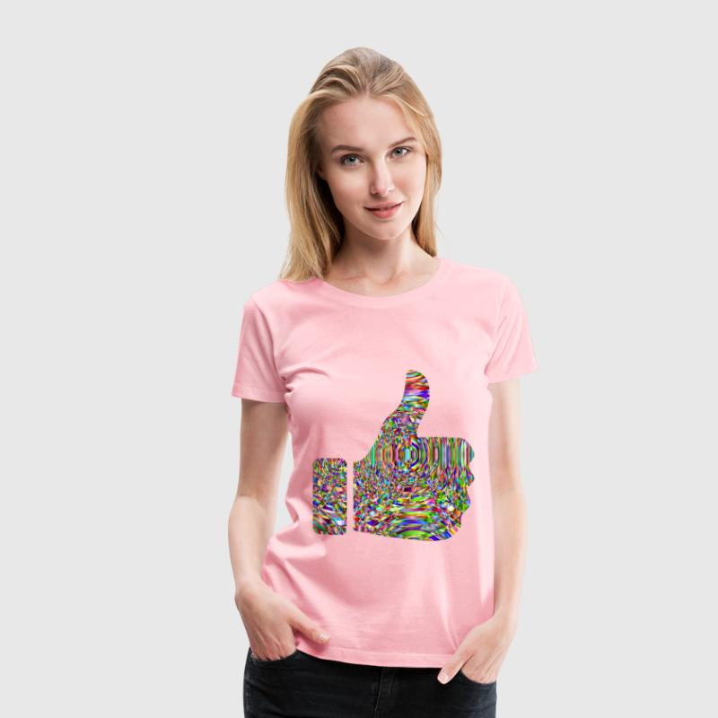 Chromatic Curves Thumbs Up - Women's Premium T-Shirt
