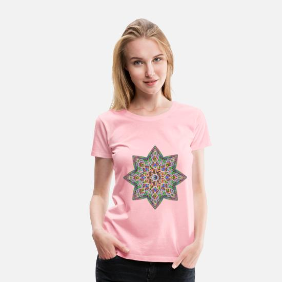 Abstract T-Shirts - Chromatic Octagonal Ornament - Women's Premium T-Shirt pink