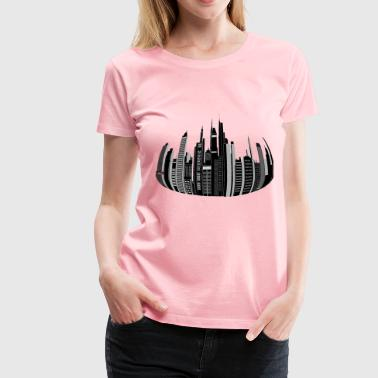 Distorted City Skyline - Women's Premium T-Shirt