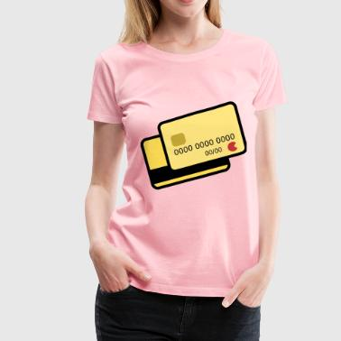Yellow Card yellow credit card - Women's Premium T-Shirt