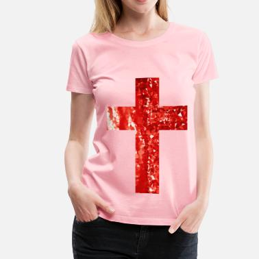 Be Healthy Religion Ruby Cross - Women's Premium T-Shirt