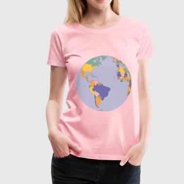 Shop globe map t shirts online spreadshirt political map earth globe womens premium t shirt gumiabroncs Images
