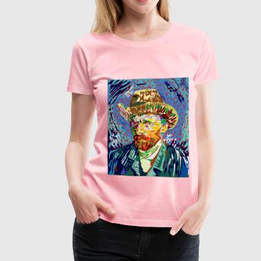 Abstract Vincent Van Gogh Portrait - Women's Premium T-Shirt