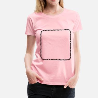 Round Square Trendy Rounded Square - Women's Premium T-Shirt