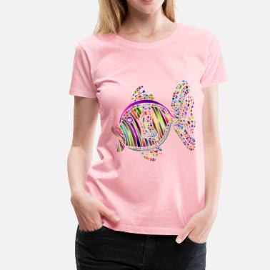 3-color Abstract Colorful Fish 3 - Women's Premium T-Shirt