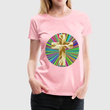 Prismatic Translucent Cross - Women's Premium T-Shirt