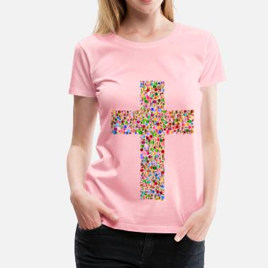 3-color Colorful Cross Circles 3 - Women's Premium T-Shirt