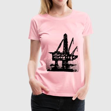 Ocean Oil Rig - Women's Premium T-Shirt