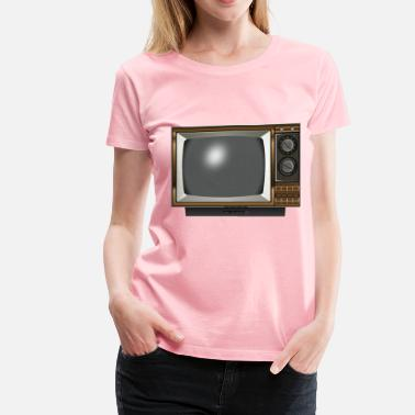 Tv Screen Old TV 2 - Women's Premium T-Shirt