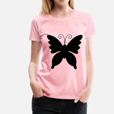 Silhouette Insects Butterfly Silhouette - Women's Premium T-Shirt