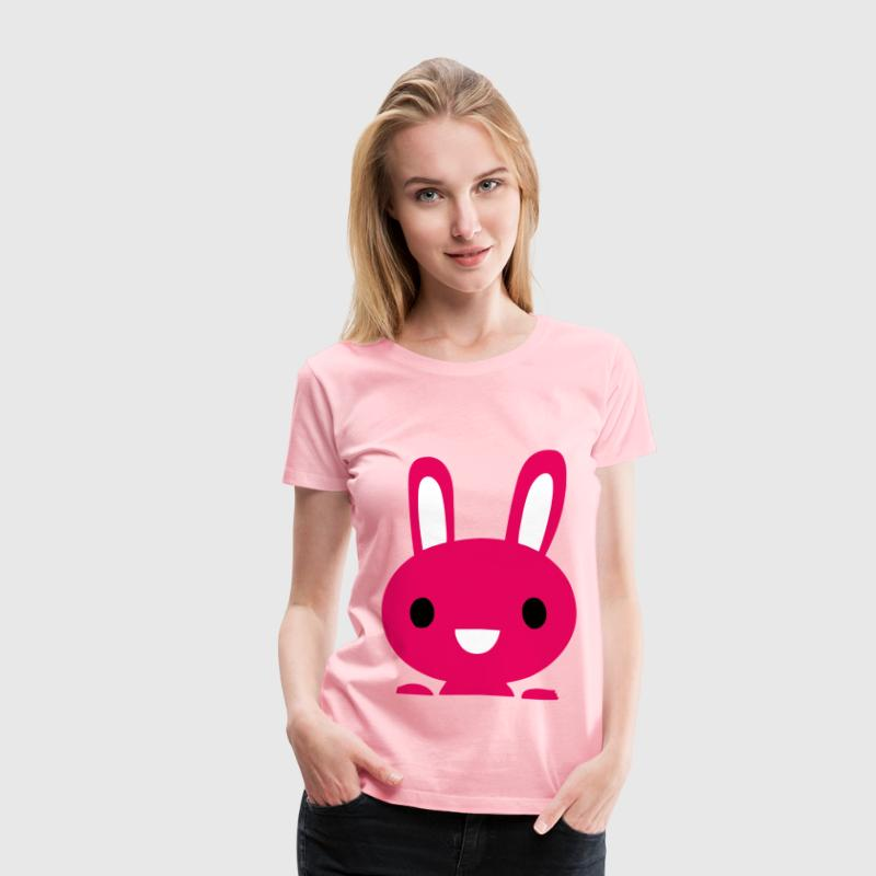 Pink Bunny Icon - Women's Premium T-Shirt