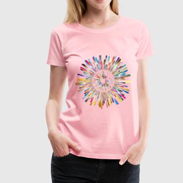 Multicultural Explosion 2 No Background - Women's Premium T-Shirt
