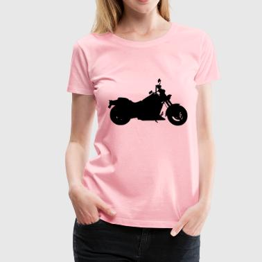 Heavy Duty Motorcycle Silhouette - Women's Premium T-Shirt