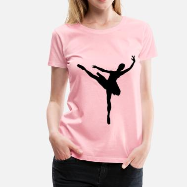 Ballet Man Woman And Man Ballet Silhouette Minus Man - Women's Premium T-Shirt