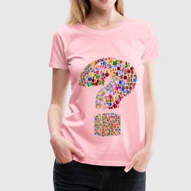 Circlular 3D Question Mark - Women's Premium T-Shirt