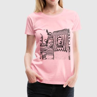 Incarceration Bassel stencils by teachr - Women's Premium T-Shirt