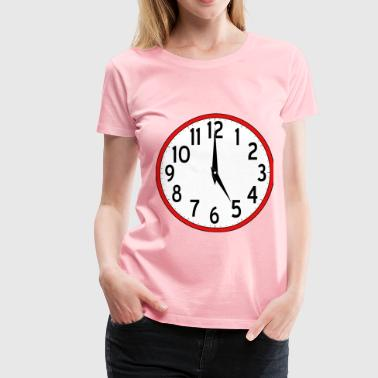 Scripted Analog Clock - Women's Premium T-Shirt