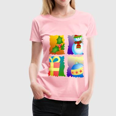 Cutting Christmas Motifs - Women's Premium T-Shirt