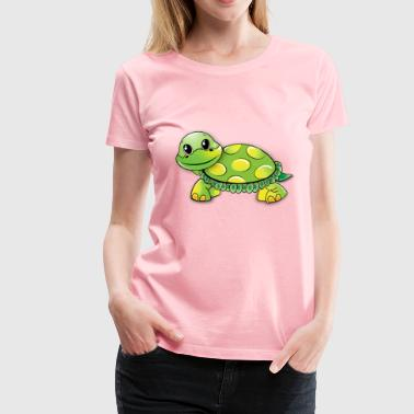 Cartoon Turtle - Women's Premium T-Shirt