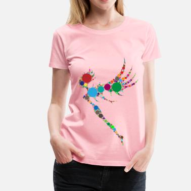 Flashy Colorful Fairy Circles - Women's Premium T-Shirt