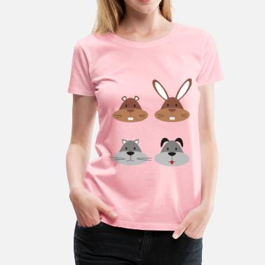 Animal Heads Animal Heads - Women's Premium T-Shirt