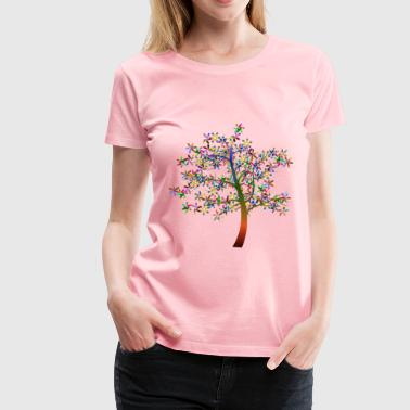 Colorful Floral Tree 2 - Women's Premium T-Shirt