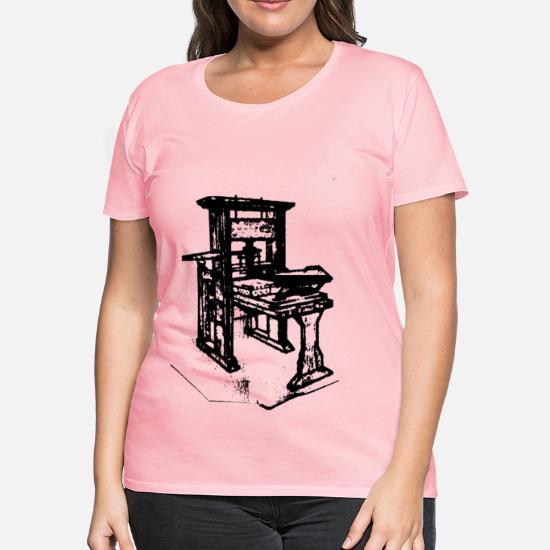 Old printing press Women's Premium T-Shirt   Spreadshirt