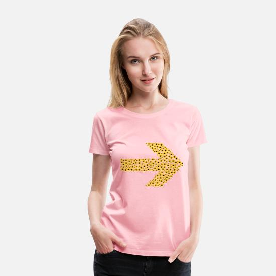 Abstract T-Shirts - Confusion Arrow - Women's Premium T-Shirt pink