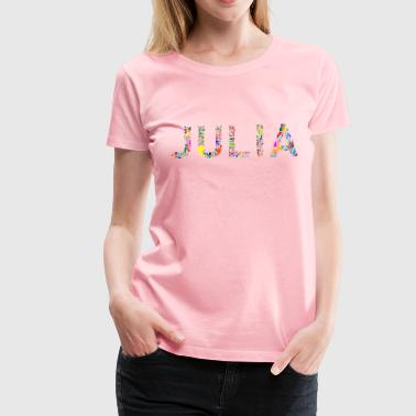 Julia Typography - Women's Premium T-Shirt