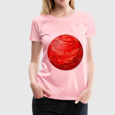 Remix of cartoon red planet - Women's Premium T-Shirt