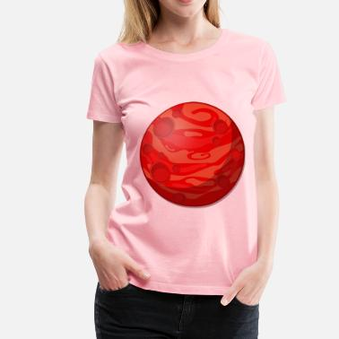 Red Planet Remix of cartoon red planet - Women's Premium T-Shirt