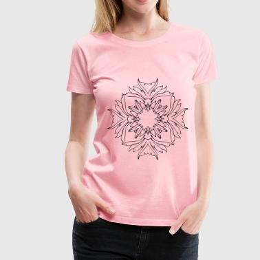 Flower Line Art 5 - Women's Premium T-Shirt